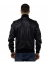 Bomber Napoli - Men's Jacket in Genuine Blue Leather Oil Vintage - 9