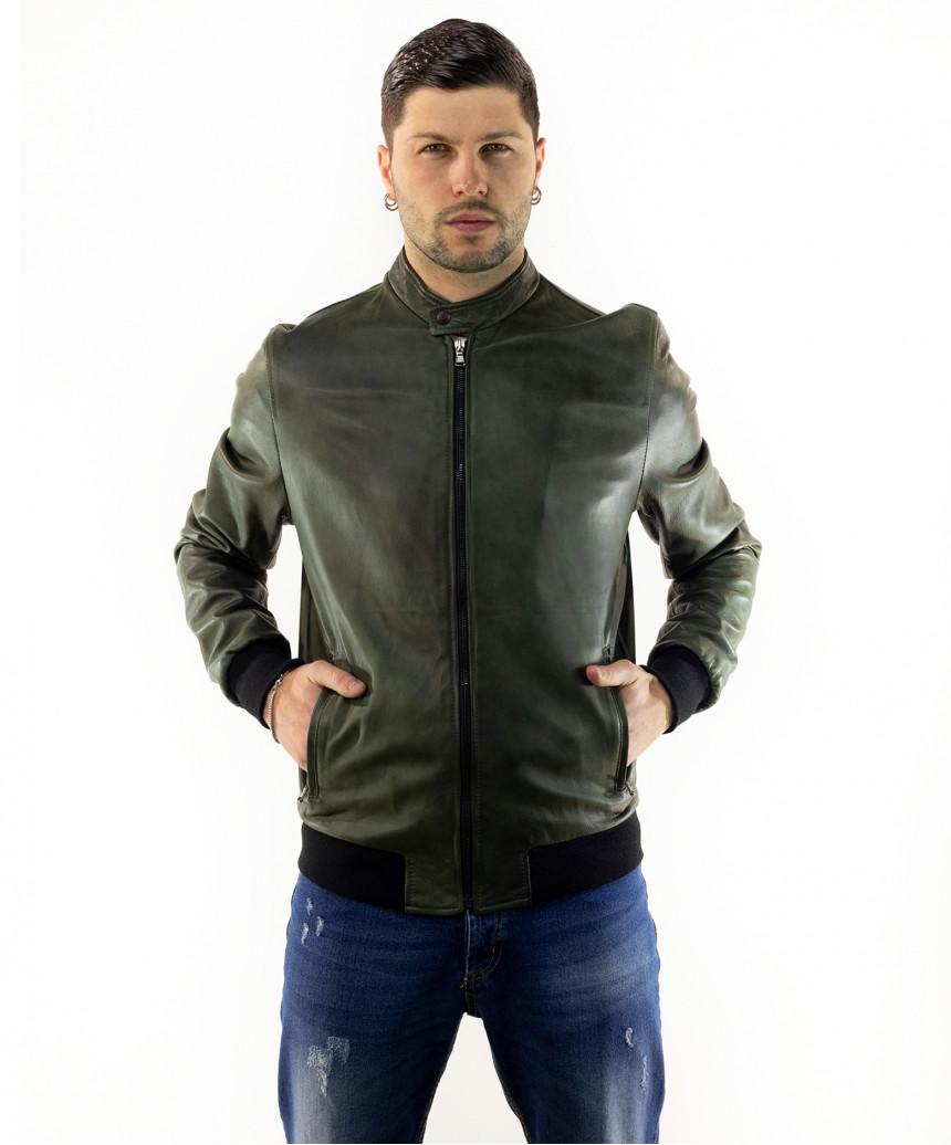 Violetta - Women Genuine Brown Leather Jacket Oil Vintage