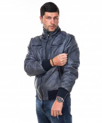 Michelina Cap - Women Jacket with Hood of Genuine Soft Brown Leather - 7