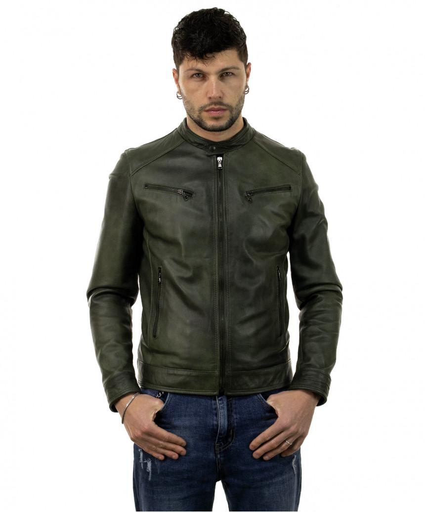 Scialla - Women Jacket of Genuine Dark Brown Leather - 4