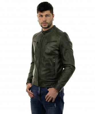 Scialla - Women Jacket of Genuine Dark Brown Leather - 6