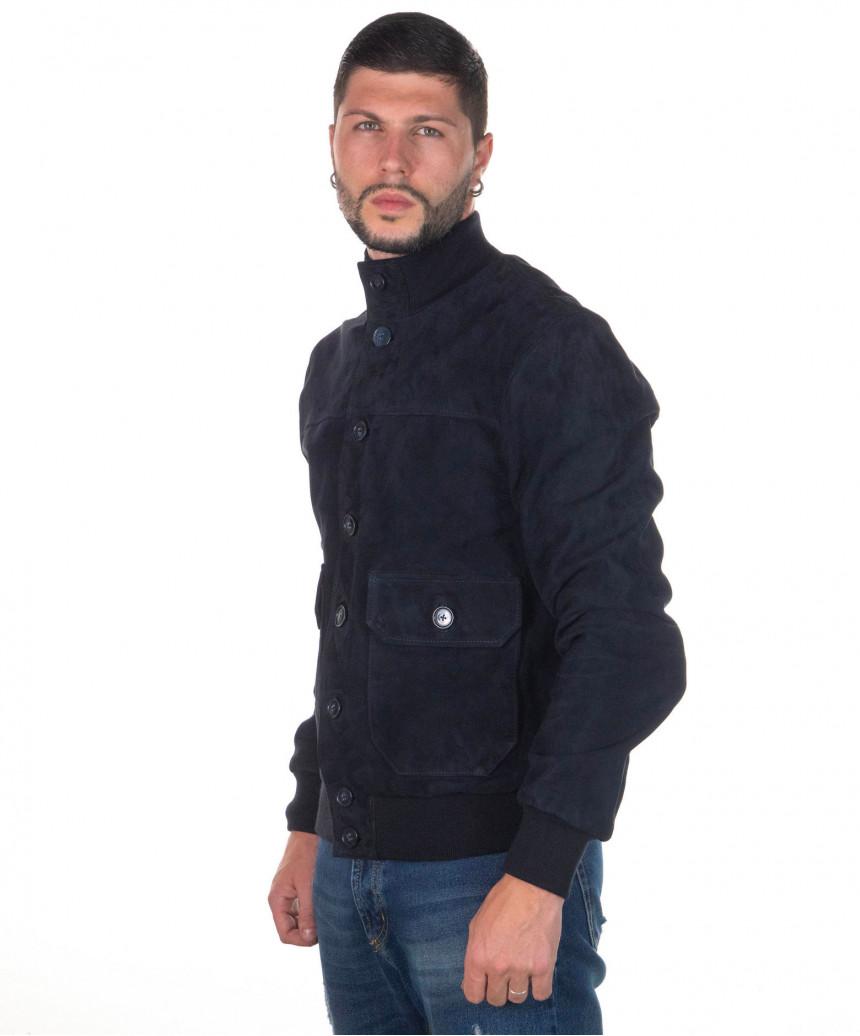 U010 - Men Genuine Aged Dark Brown Leather Jacket