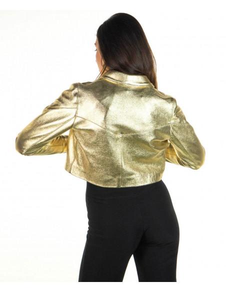 Chiodo Donna - Giacca in Vera Pelle con Cintura colore Bordeaux Invecchiato - 1