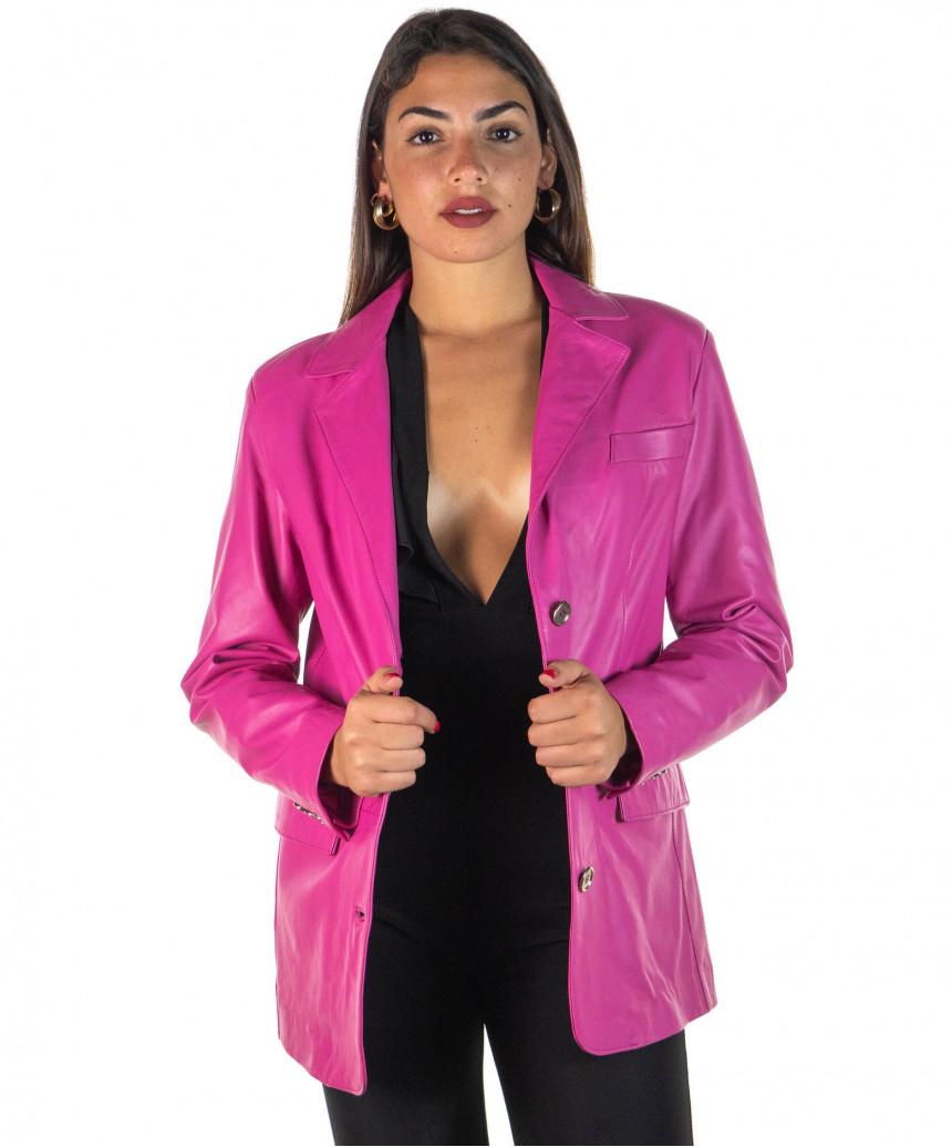 low priced 15f49 e382d Piumino Lungo - Giacca Uomo in Vera Pelle colore Testa di Moro Invecchiato