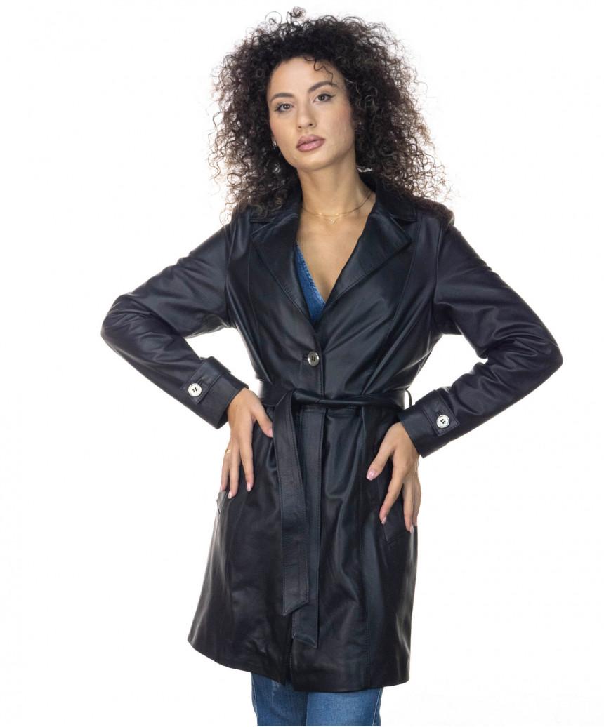 V173- Women Jacket in Genuine Aged Leather color