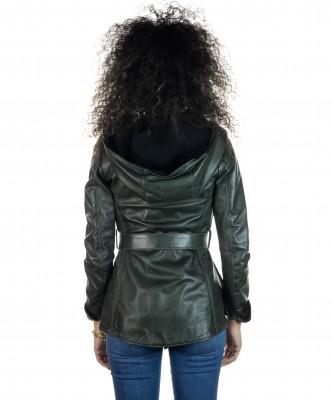 Raff - Giacca Donna in Vera Pelle colore Bordeaux Invecchiato - 1