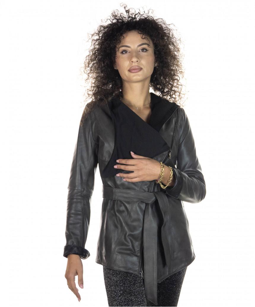 Raff - Women Jacket in Genuine Aged Brown