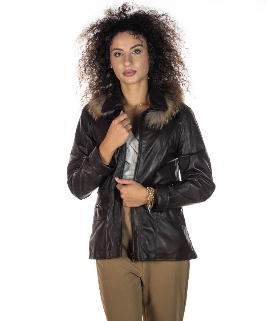 Classic - Giacca Classica Uomo in Vera Pelle colore Blu Invecchiato - 3