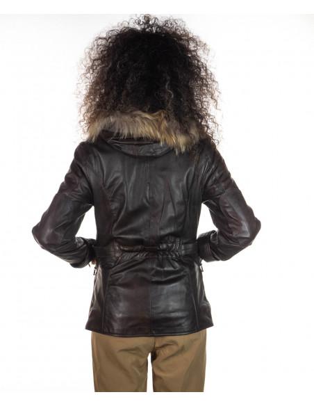 Classic - Giacca Classica Uomo in Vera Pelle colore Blu Invecchiato - 4