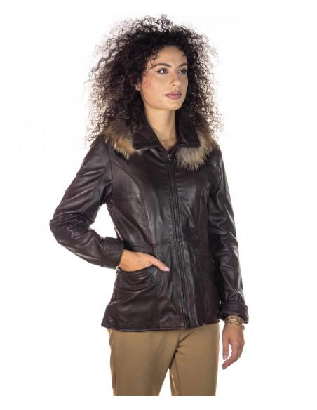 Classic - Giacca Classica Uomo in Vera Pelle colore Blu Invecchiato - 5