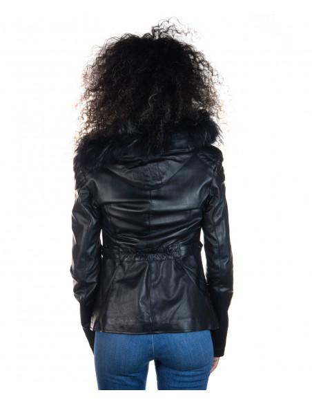 Classic 712 - Giacca Donna in Vera Pelle colore Rosso Morbida - 1