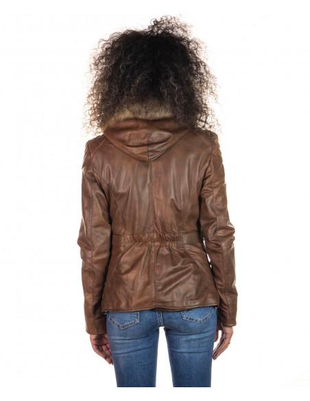 Classic 712 - Giacca Donna in Vera Pelle colore Rosso Morbida - 2