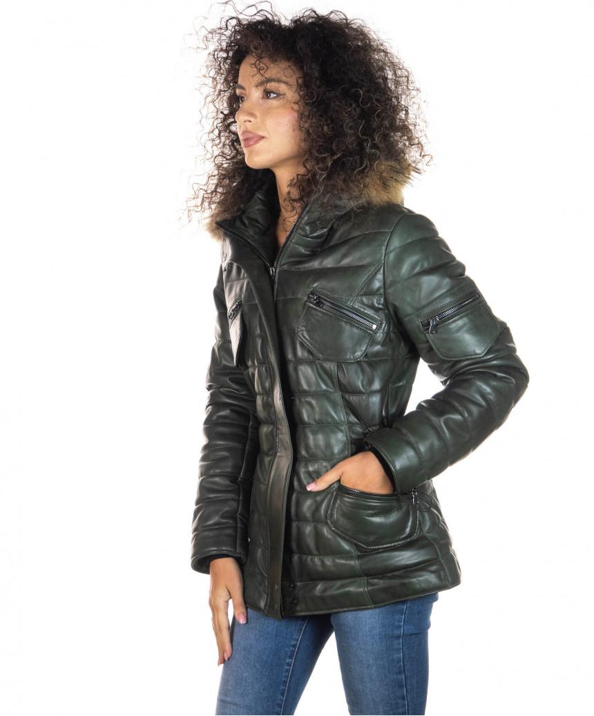 the latest de9ba e967d Chiodo lino - Giacca Uomo in vera pelle di agnello Morbida rosso invecchiato