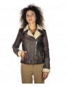 Chiodo Uomo - Men Jacket of Genuine Brown Oil Vintage Leather - 3