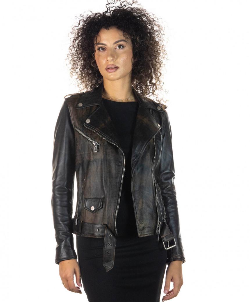 official photos 8f57f 0fb3d Venezia - Giacca Donna in Vera Pelle colore Nero Morbida