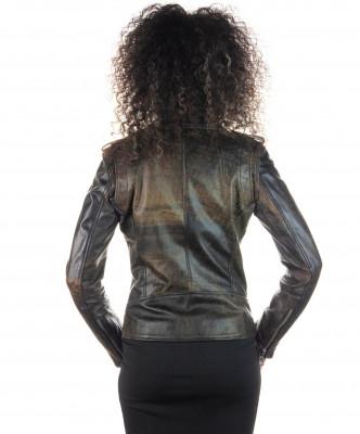Venezia - Women Jacket of Genuine Soft Black Leather - 2