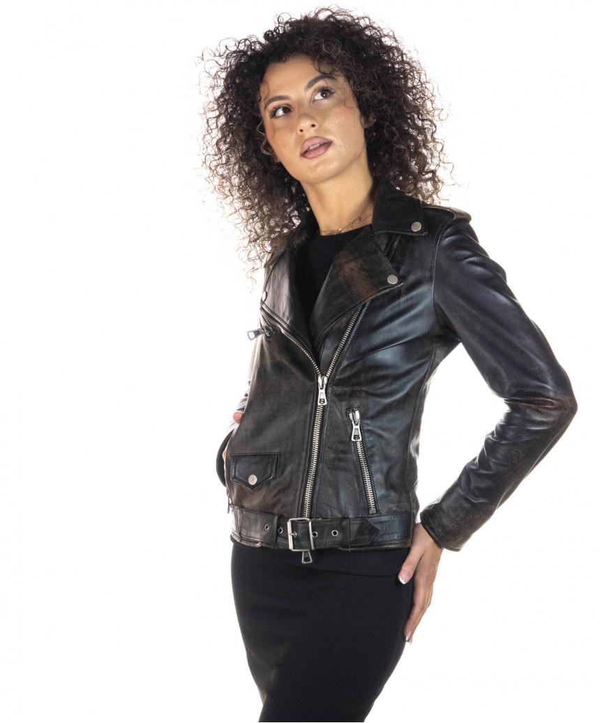 Venezia - Women Jacket of Genuine Soft Black Leather - 3
