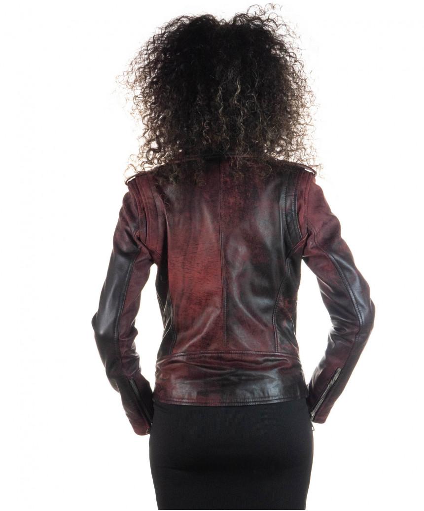 Venezia - Women Jacket of Genuine Soft Black Leather - 7