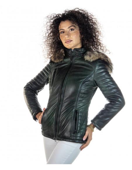 Criss - Women Jacket of Genuine Soft Black Leather - 1