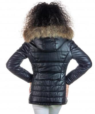 Crystal - Giacca Donna in Vera Pelle colore Nero Morbida - 1