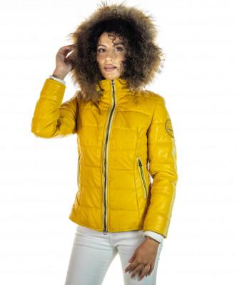 Sasha - Women Jacket of Genuine Aged Brown Leather - 2