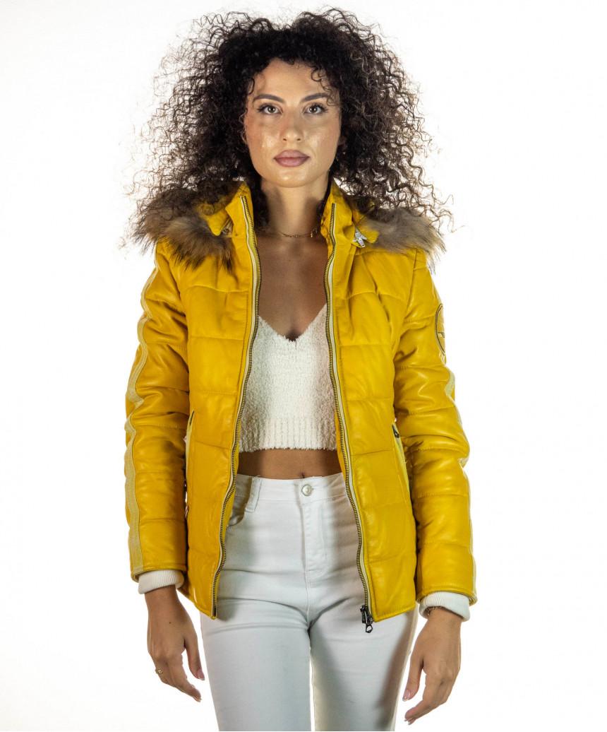 Sasha - Women Jacket of Genuine Aged Brown Leather - 3