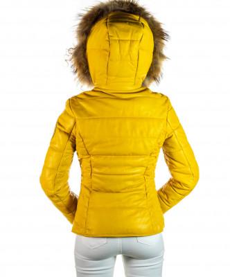 Sasha - Women Jacket of Genuine Aged Brown Leather - 4