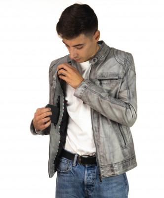 Sasha - Women Jacket of Genuine Soft Black Leather - 5
