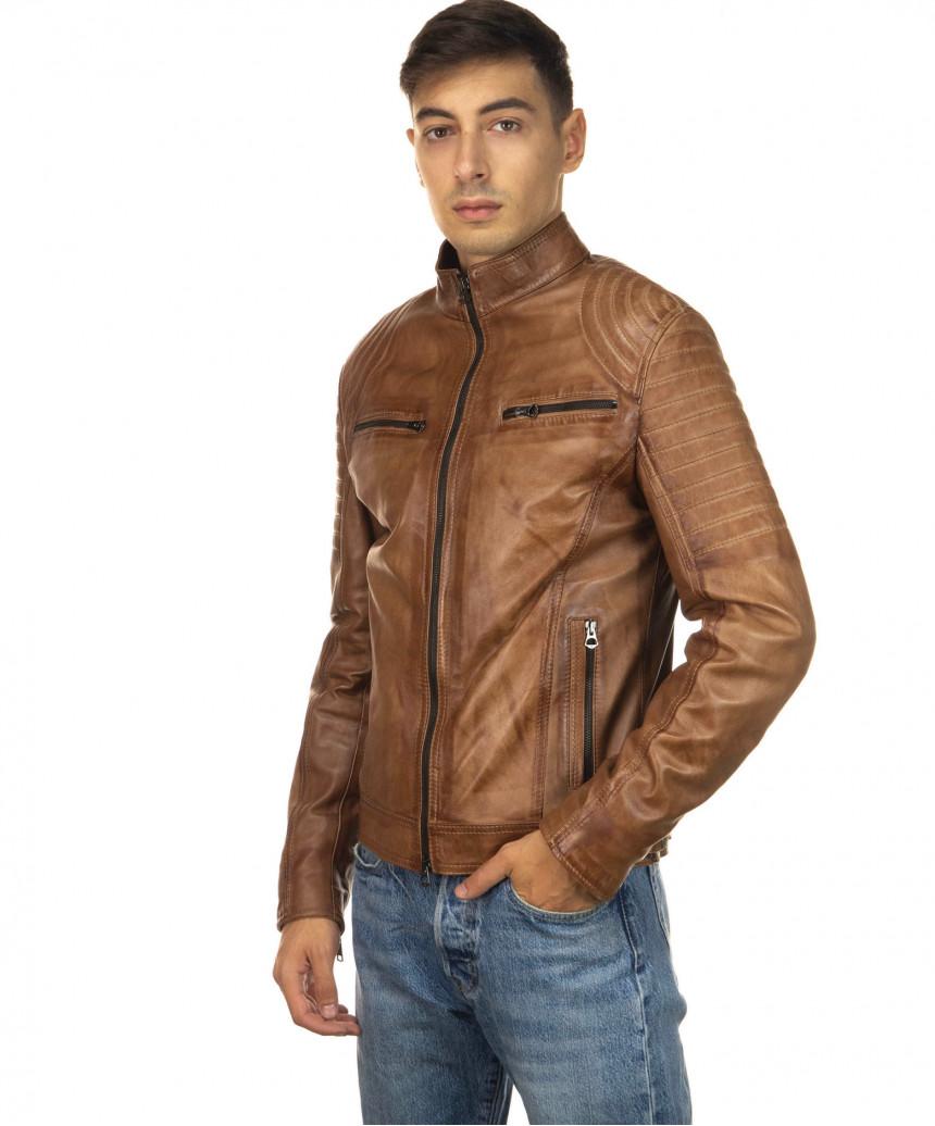 Sasha Capp - Women Jacket with Hood of Soft Black Genuine Leather - 2