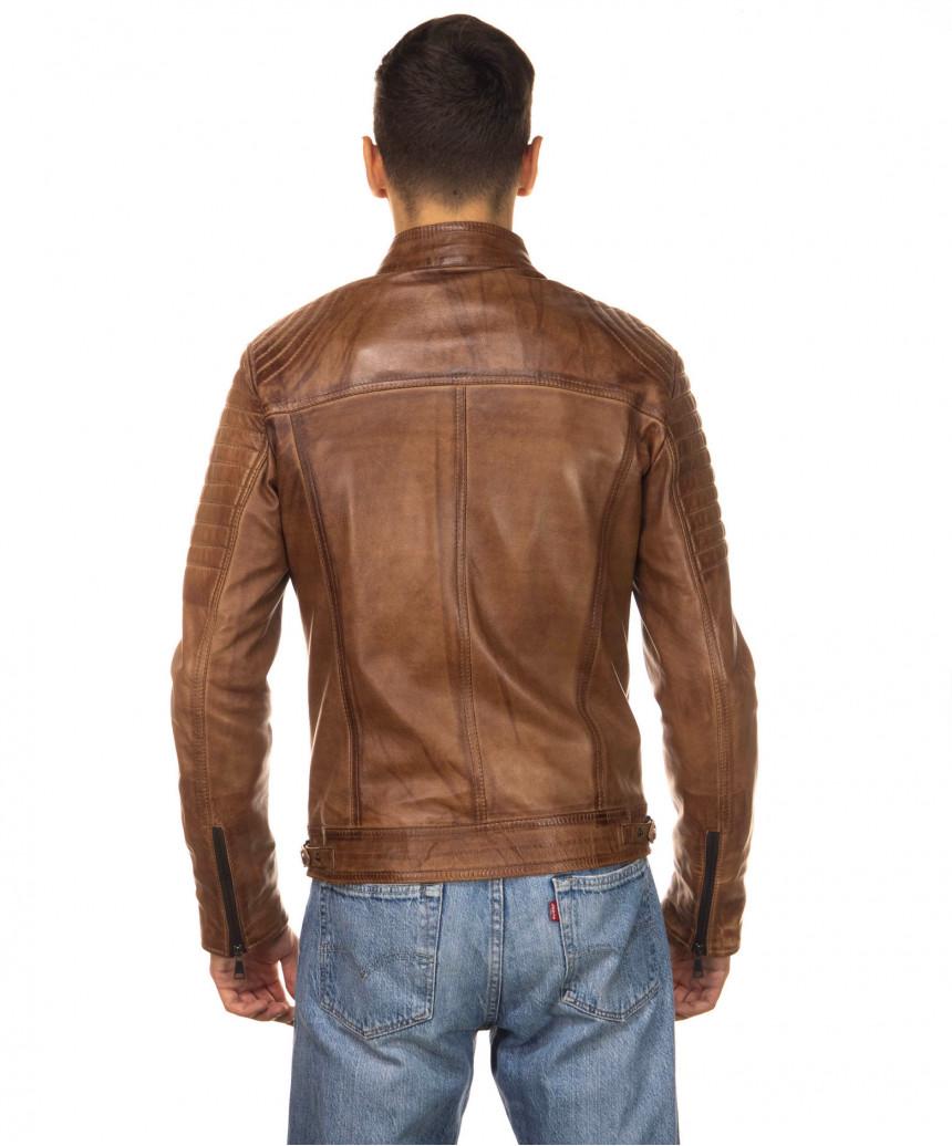 Sasha Capp - Women Jacket with Hood of Soft Black Genuine Leather - 3