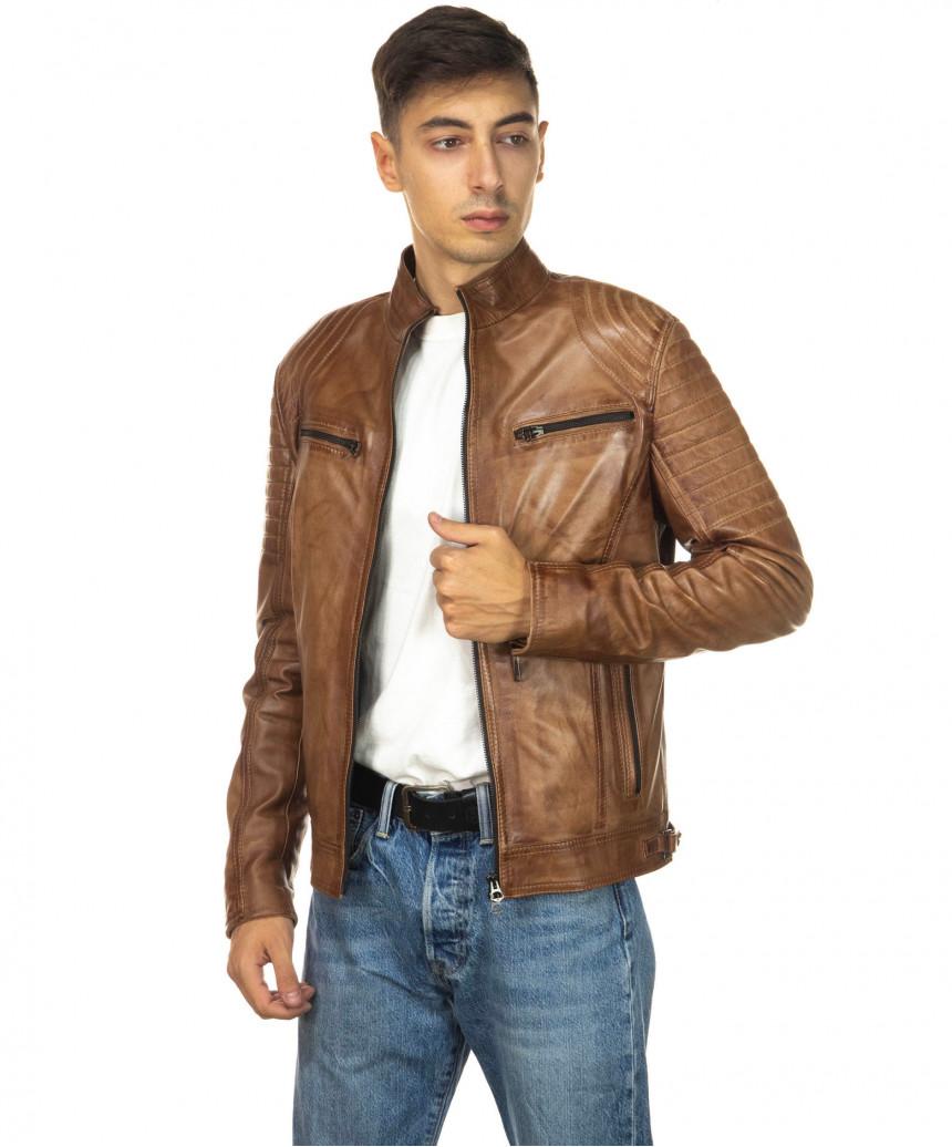 Sasha Capp - Women Jacket with Hood of Soft Black Genuine Leather - 4