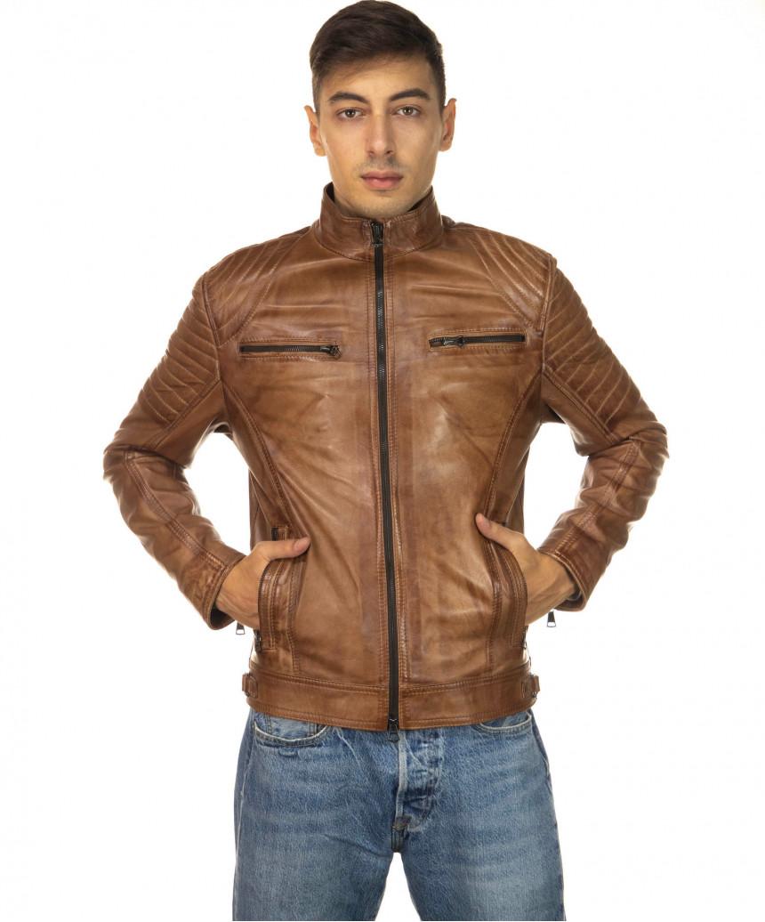 Sasha Capp - Women Jacket with Hood of Soft Black Genuine Leather - 5