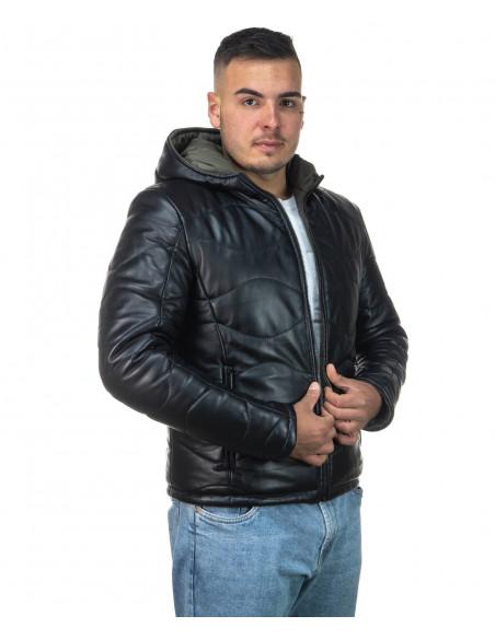 Vale Bis - Women Jacket of Genuine Aged Brown Leather - 1