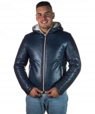Vale Bis - Women Jacket of Genuine Aged Dark Brown Leather - 5