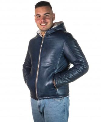 Vale Bis - Women Jacket of Genuine Aged Dark Brown Leather - 6