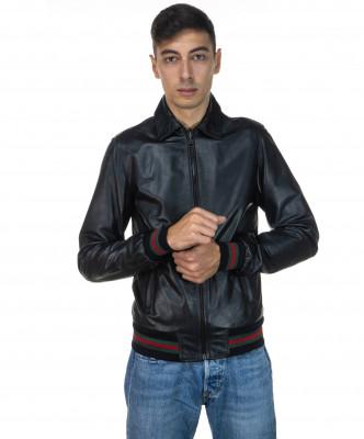 Raff - Women Jacket of Genuine Aged Gray Leather - 4