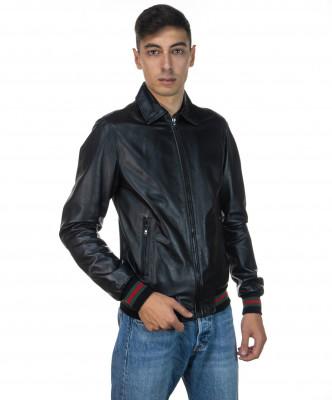 Raff - Women Jacket of Genuine Aged Gray Leather - 5