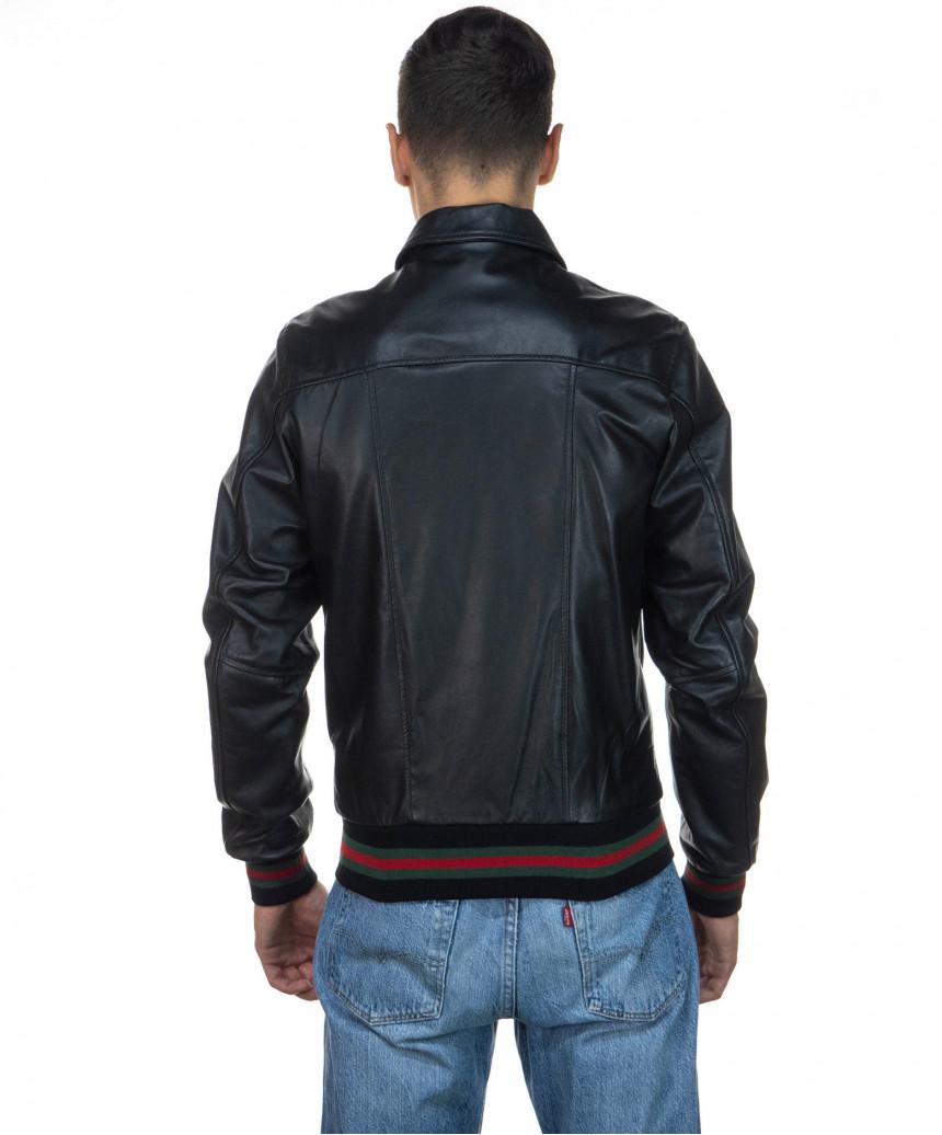 Raff - Women Jacket of Genuine Aged Gray Leather - 6