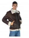 Chiodo Napoli - Men Jacket of Genuine Aged Bordeaux Leather - 1