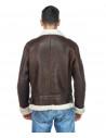 Chiodo Napoli - Men Jacket of Genuine Aged Bordeaux Leather - 3