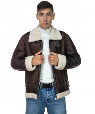Chiodo Napoli - Men Jacket of Genuine Aged Bordeaux Leather - 4