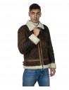 Chiodo Napoli - Men Jacket of Genuine Aged Bordeaux Leather - 5