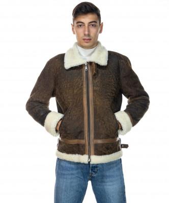 Chiodo Napoli - Men Jacket of Genuine Aged Bordeaux Leather - 6