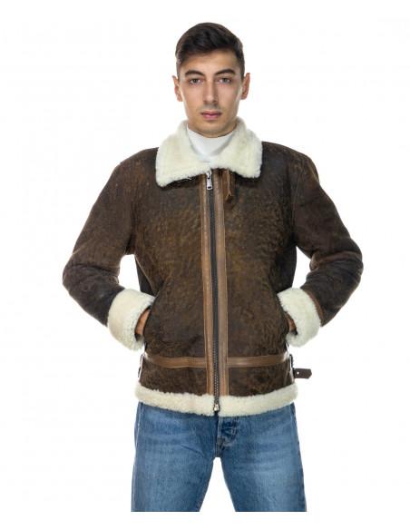 Chiodo Napoli - Giacca Uomo in Vera Pelle colore Bordeaux Invecchiato - 6