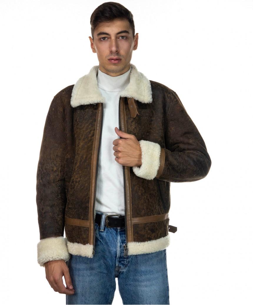 Chiodo Napoli - Men Jacket of Genuine Aged Bordeaux Leather - 9