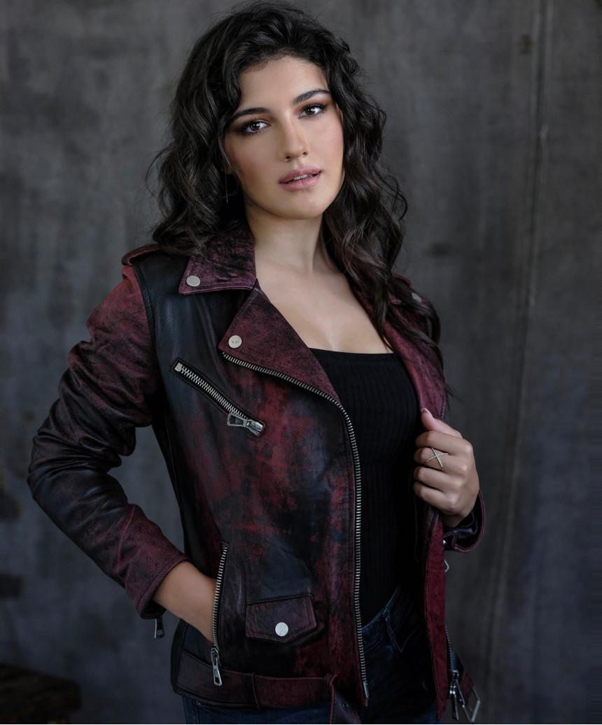U04 - Men's Jacket in Genuine Aged Soft Brown Leather