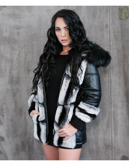 U05 - Giacca Uomo in Vera Pelle colore Rosso Invecchiato - 3