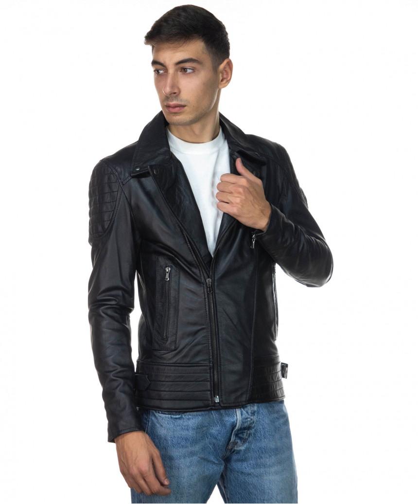 U06 - Men's Jacket Genuine Leather Mud Color