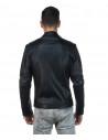 V246 - Men's Jacket of Genuine Distressed Dark Brown Leather - 2