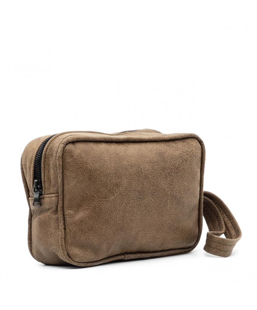 V246 - Men's Jacket of Genuine Distressed Dark Brown Leather - 7